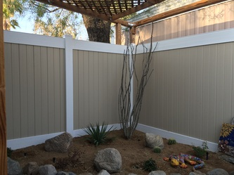 Two Tone Privacy Vinyl Fence Call Sonrise Fence At 877